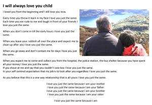 I will always love you child