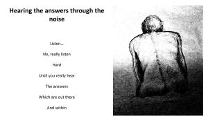 Hearing the answers
