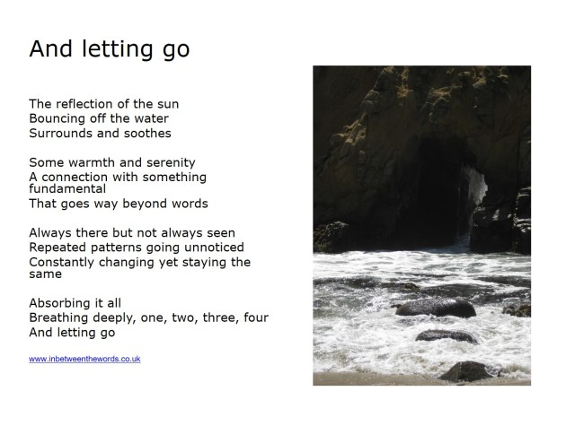 And letting go