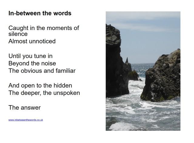 in between the words