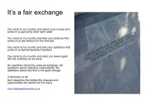 Its a fair exchange